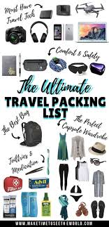 Travel Packing List images The ultimate travel packing list travelistly jpg