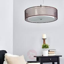 brown pendant light pikka brown fabric pendant light with e27 leds lights co uk