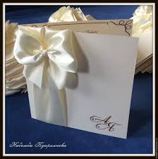 buy wedding invitation with bow and initials on livemaster online shop