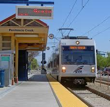 San Jose Light Rail Map by Santa Clara Valley Transportation Authority Light Rail Wikipedia