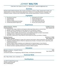 computer software skills resume exles skill resume software engineer resume sles free software
