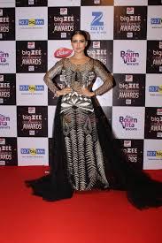 Red Carpet Entertainment Sana Khan At Red Carpet Of Big Zee Entertainment Awards 2017 On