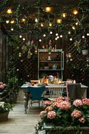 patio ideas loving the string lighted patio at oddfellows cafe