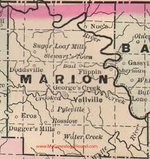 eros map marion county arkansas 1889 map