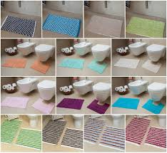 bath mats set new easy clean 100 cotton bathroom mats set washable bath