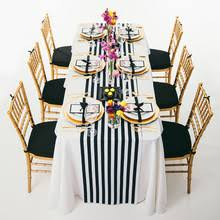 black and white table runners cheap buy black white striped table runner and get free shipping on