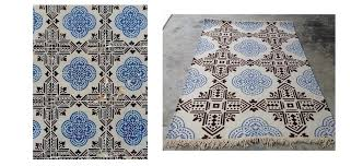 Custom Outdoor Rugs Blue And White Tiles As A Custom Outdoor Rug Rug Your Life