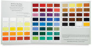 michael harding hand painted colour chart michael harding http
