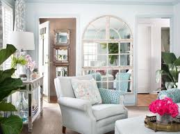 sunny shabby chic living room this sunny living room blends pale