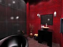 Brown Accent Wall by Red Black And White Bathroom Decor Brown Exposed Ceramic Mosaic
