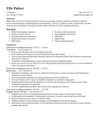 Hospitality Resume Samples by Best Guest Service Representative Resume Example Livecareer