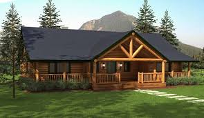 ranch style log home floor plans ranch style homes hickory log home floor plans living