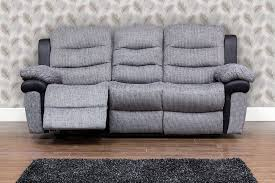 Fabric Reclining Sofa Fabric 3 Seater Recliner Sofa