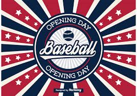 free baseball opening day vector label free vector