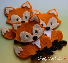 felt foxes pack of red foxes decorative fox woodland creatures