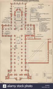 St James Palace Floor Plan Peterborough Cathedral Vintage Floor Plan Northamptonshire 1939