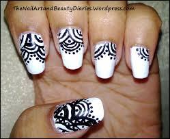 black and white nail art the nail art and beauty diaries