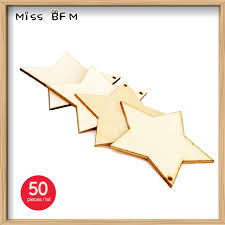 50pcs lot 60mm blank shaped unfinished wooden crafts with