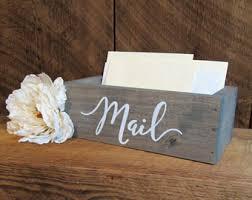 Desk Mail Organizer Grey Desk Organizer Etsy