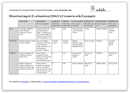 monitoring and evaluation m u0026e framework template tools4dev