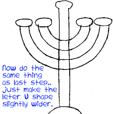 hanukka candles how to draw hanukkah menorahs with easy step by step drawing