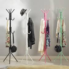 2018 fashion hat bag hang coat rack metal tripod stand coat rack