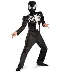 halloween spiderman costume spiderman ultimate black suited muscle kids costume boy