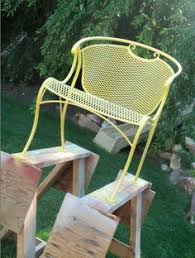refurbishing wrought iron furniture love this idea i think we