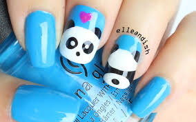 easy panda nails youtube