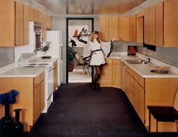 promotional photo of 1960s checkered kitchen for merillat