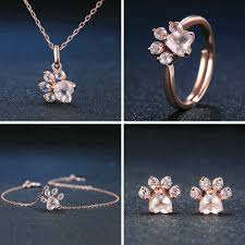 rose gold ring necklace images Kitty paws rose gold ring buy all 4 item for 99 95 only meowaish png