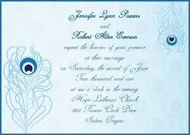 peacock wedding invitations simple blue peacock wedding invitations with response cards ewi206