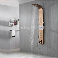 Body Faucet Wholesale And Retail Promotion Luxury Rose Golden Shower Column