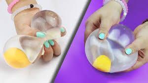 squishy water egg stress diy
