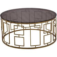 armen living coffee table armen living zinc contemporary coffee table shiny gold with smoked
