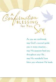 Confirmation Invitation Cards May God U0027s Counsel Guide You Confirmation Card For Son Greeting