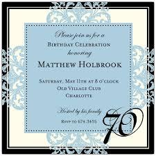 70th birthday party invitations wording drevio invitations design