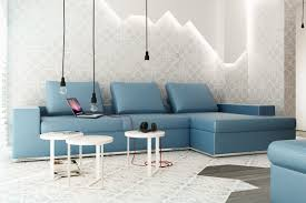 Living Room Blue Sofa by Dark Blue Living Room Walls Combined With White Accent And Black