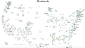 Boston Vs New York Map by Trumpistan Vs Clintonesia Big Think