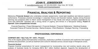 Resume For Financial Analyst Why This Is An Excellent Resume Business Insider