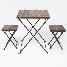 Reclaimed Wood Bistro Table Wood Folding Bistro Table