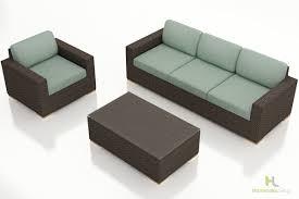 3 piece sofa set harmonia living arden 3 piece sofa set wicker com