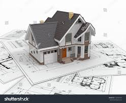 residential blueprints residential house tools on architect blueprints stock illustration
