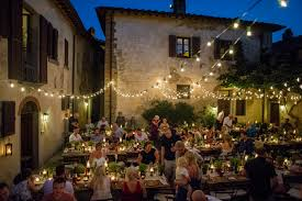 Tuscan Style Rustic Pre Wedding Village Party At Il Borro Tuscan Style