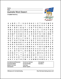 australia wordsearch crossword puzzle and more