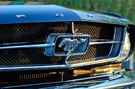 mustang grill emblems 1965 shelby prototype ford mustang grille emblem photograph by