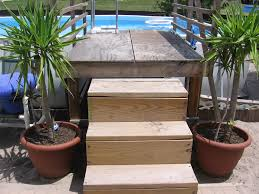 above ground pool ladders for decks photos of above ground pool