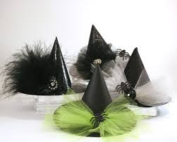 sprinkled with glitter mini witch hats halloween costume and decor