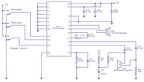 voice recorder playback circuit electronic circuits and diagram