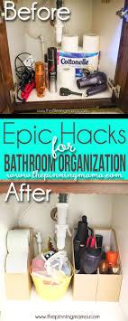 bathroom organizers ideas 5 easy hacks to keep your bathroom organized the pinning